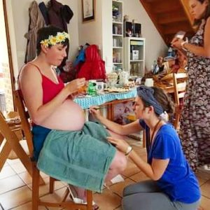 Blessingway Camille Body Painting