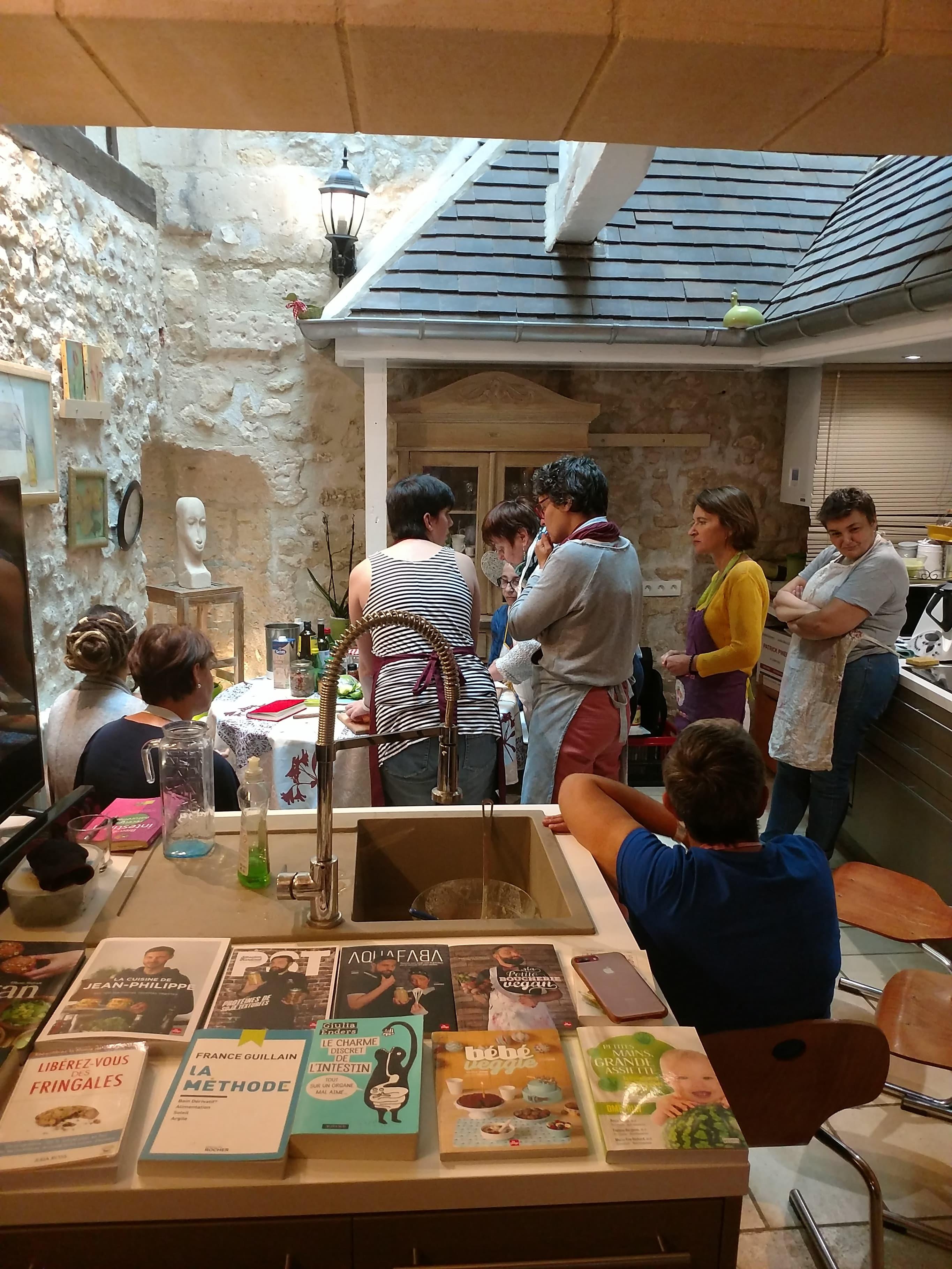 Atelier de Cuisine végétale naturopathie livres de recettes végétale